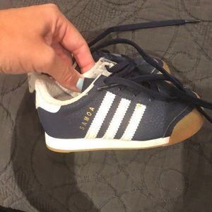 Kids adidas Samoa navy and white